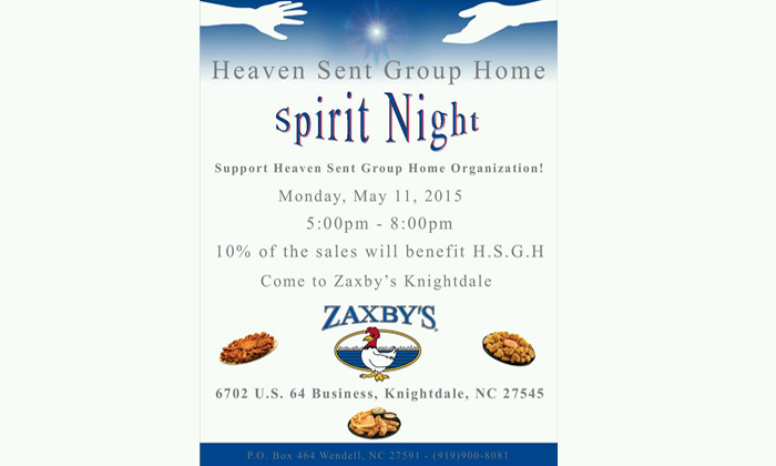 Spirit Night 2015 Advertisement
